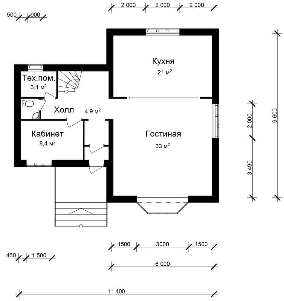 Готовый проект кирпичного дома с ценой строительства