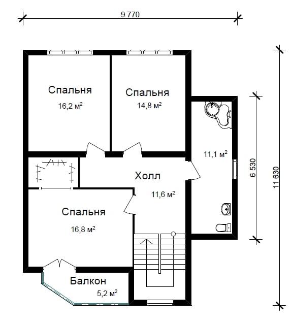 Готовый дом из газобетона N162-гб