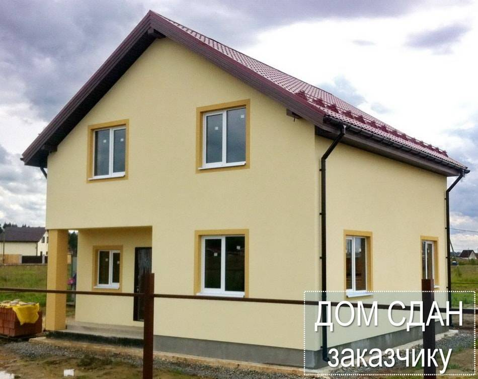 Строительство загородного дома из поризованного кирпича, Балтийская Слобода