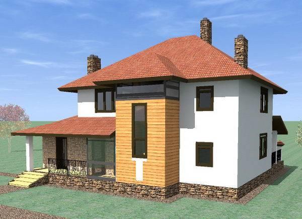 Готовый дом из газобетона N248-гб