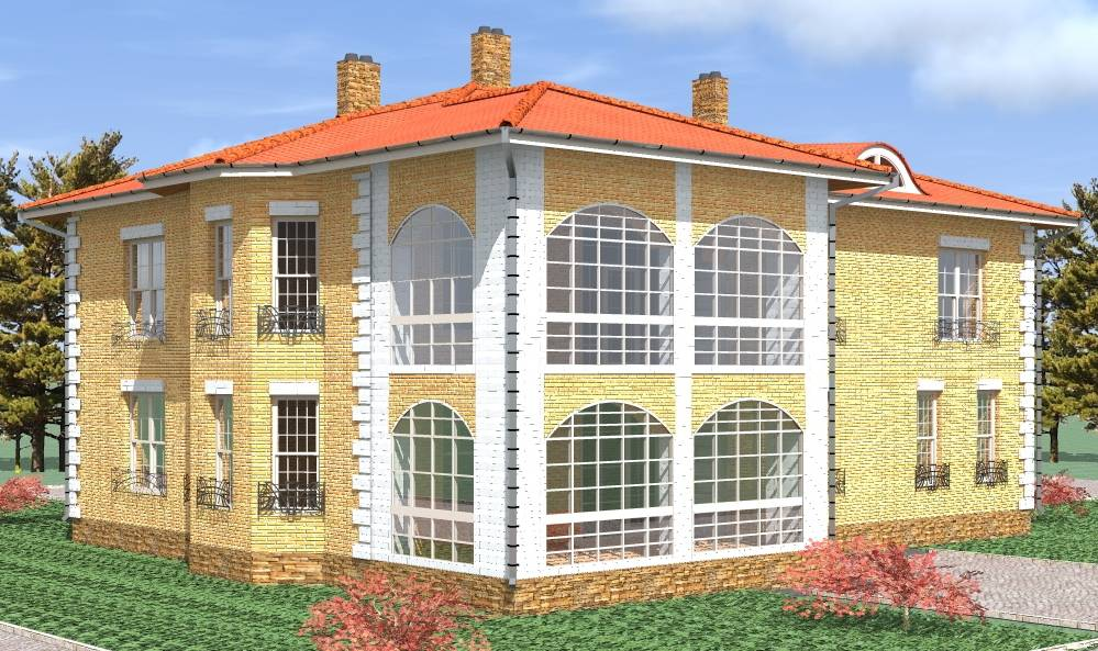 индивидуальное проектирование дом из кирпича