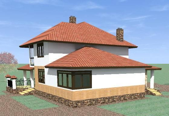 готовый проект дома из газобетона