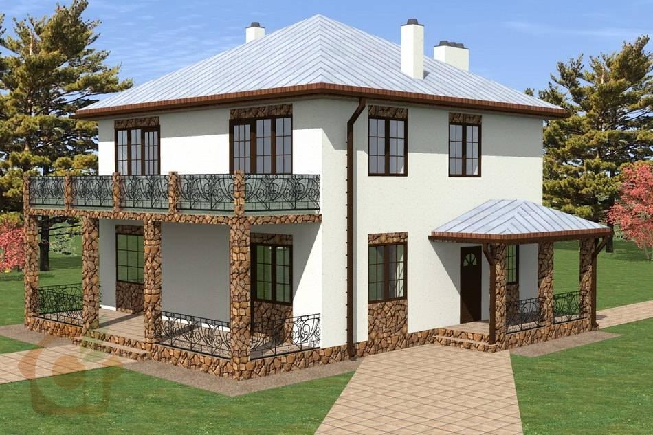 3D визуализация проекта дома