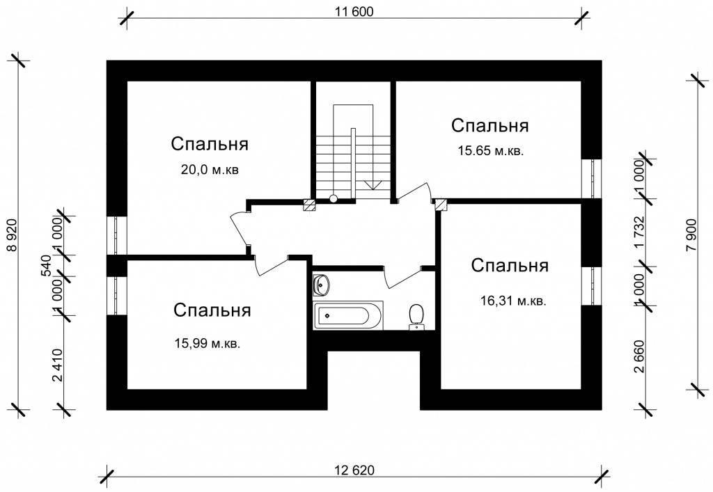 Готовый дом из газобетона N232-гб