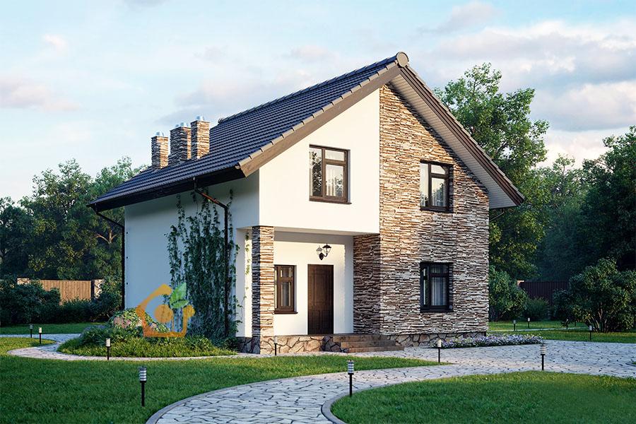 фото шлюхой двухэтажный дом из газосиликатных блоков фото зодиакального