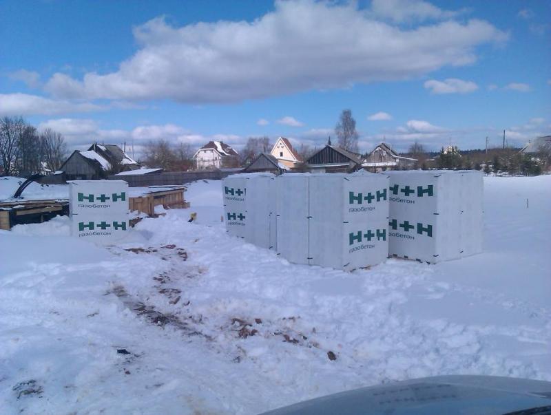 строительство загородного дома из газобетона п. Крокшево