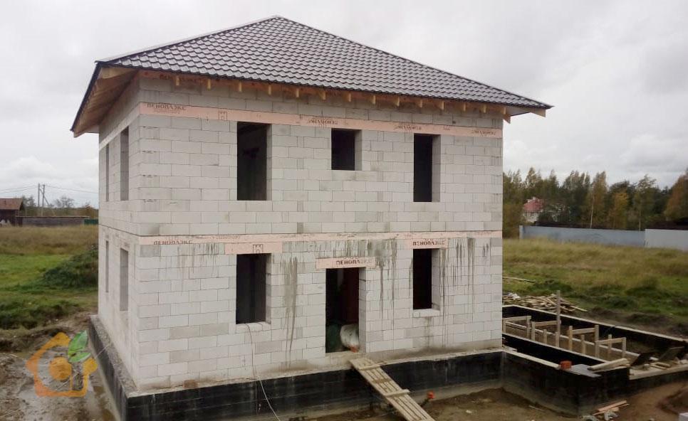 сколько нужно газоблоков на дом 10х10 двухэтажный