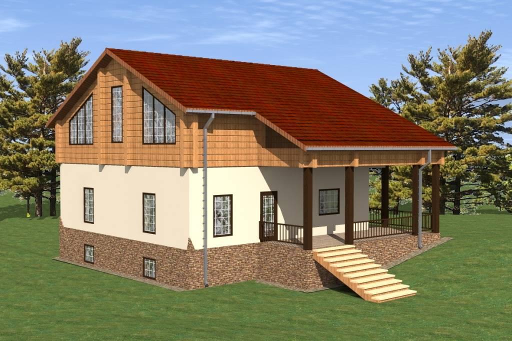Строительство загородного дома из газобетона в Кирполье, Янтарный бор