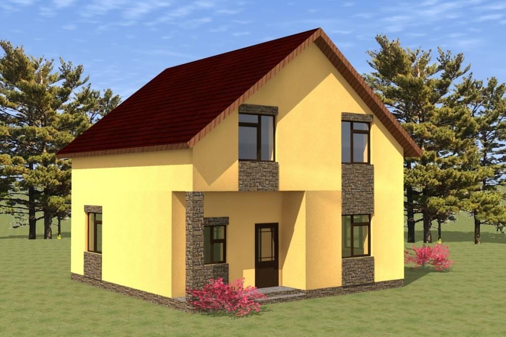 Дом из газобетона Тайцы проект