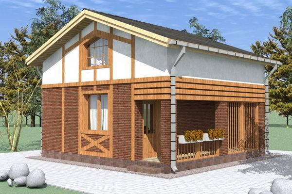 Готовый проект дома из газобетона: дом за миллион