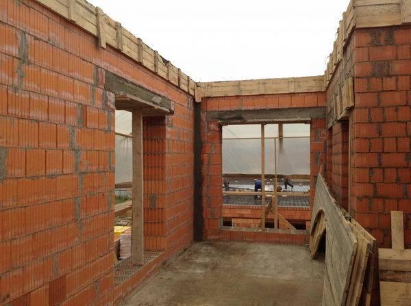 строительство кирпичного загородного дома, строительство дома из кирпича