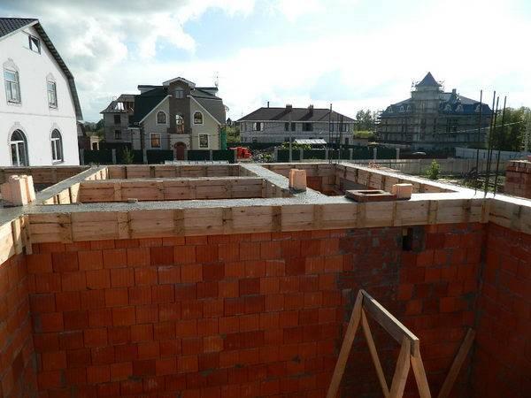 строительство дома из кирпича