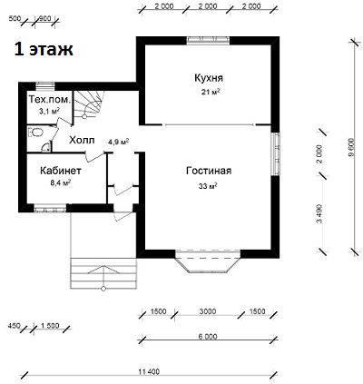 готовый проект дома из газобетона с ценой строительства