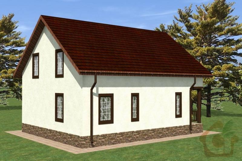 Строительство дома из газобетона 9,5х7,5 м в п. Пухолово