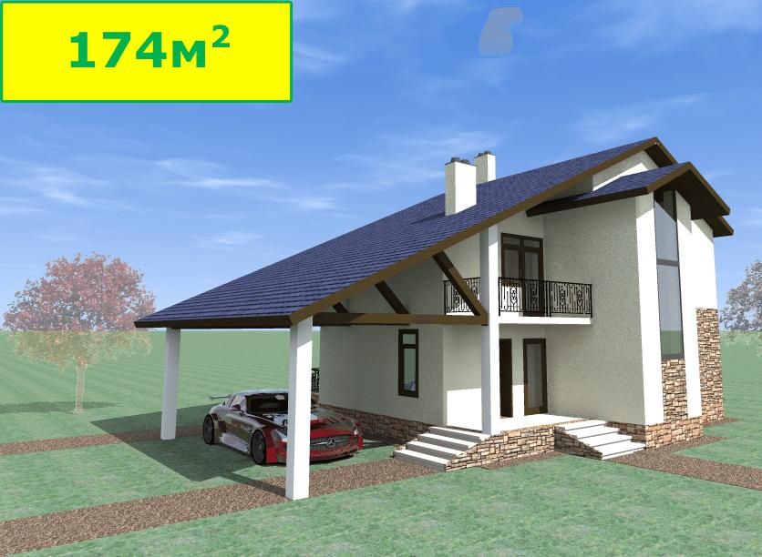 Готовый проект кирпичного дома