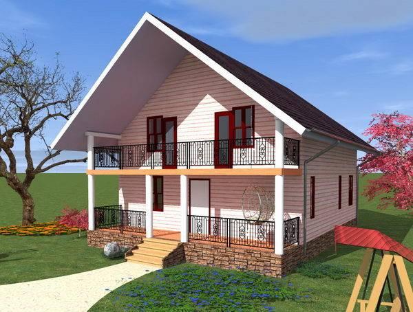 Строительство дома из газобетона по готовому проекту