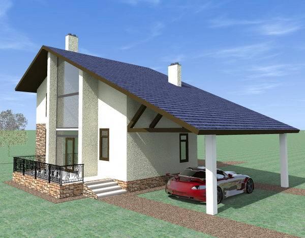 Готовый дом из газобетона N174-гб