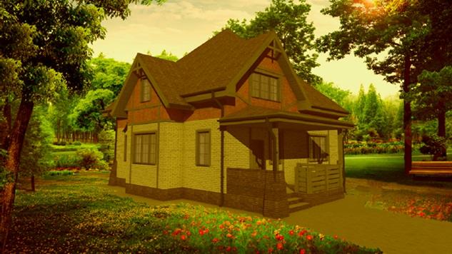 Готовый проект дома из газобетона, Обитель ангелов