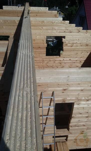 Строительство загородного дома бани из профилированного бруса естественной влажности, п. Мичуринское