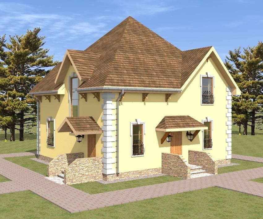 кирпичный дом Северная Жемчужина, проектирование - компания Апельсин